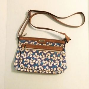 Relic Canvas Floral Pattern Crossbody Purse